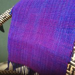 Purple Woven Shawl