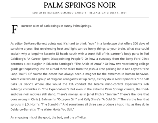 Palm Springs Noir | Kirkus Review